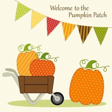 Wlcome to the Pumpkin Patch card