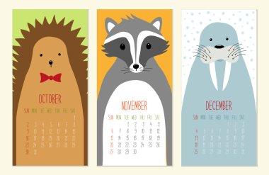 Cute 2016 calendar pages