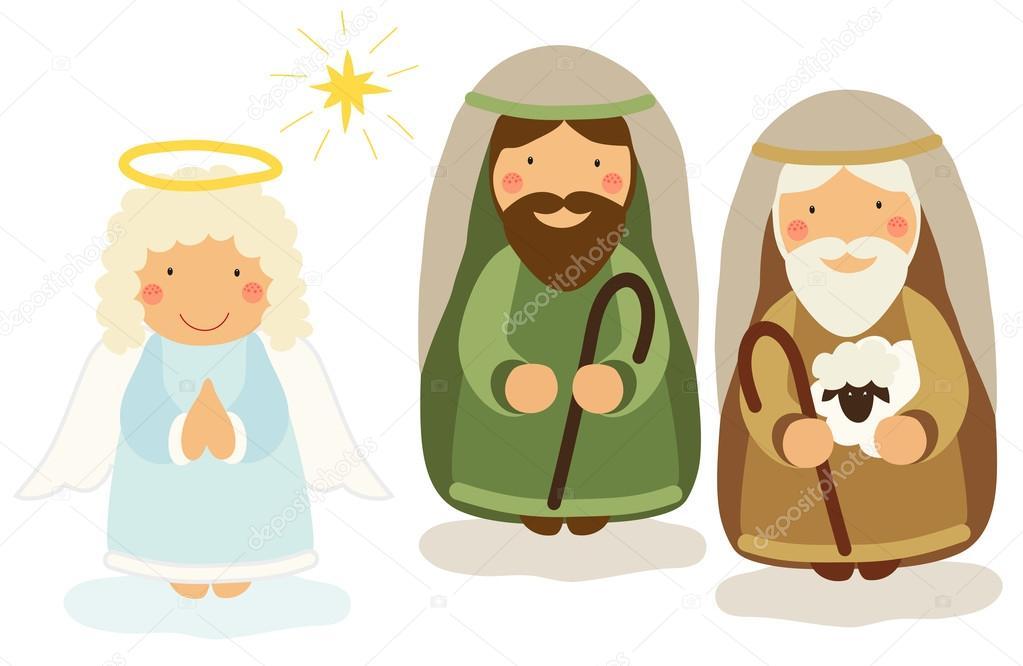 personagens do pres u00e9pio vetor de stock  u00a9 ishkrabal 89855054 nativity scene clipart free christmas nativity scene clipart free