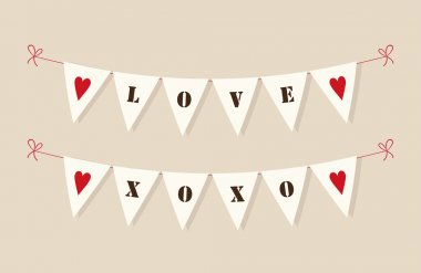 Cute vintage bunting flags