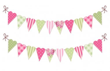 heart shaped  bunting flags