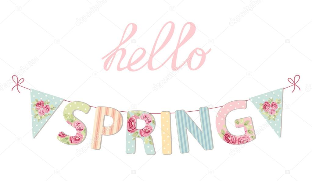 Welcome Spring banner — Stock Vector © IShkrabal #97174352