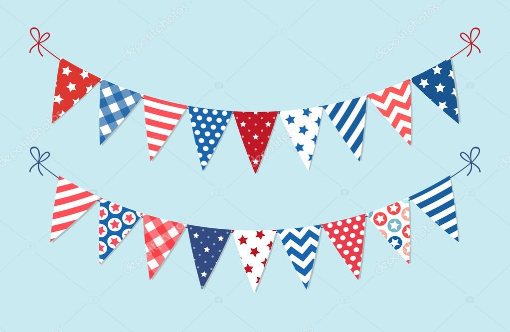 cute patriotic bunting � stock vector 169 ishkrabal 97174354