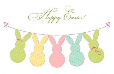 Cute festive Easter bunting