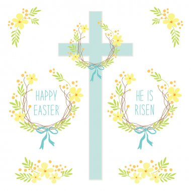 Cute rustic Easter wreathes