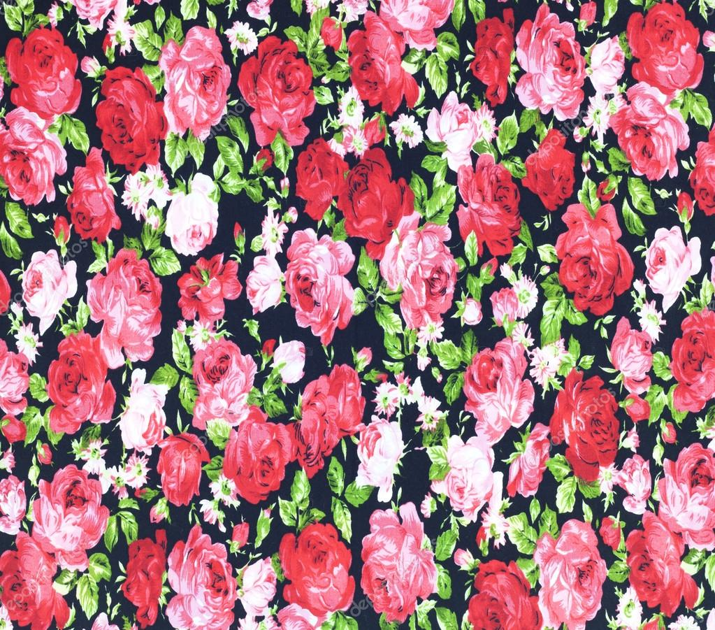 Fabric flowers wallpaper