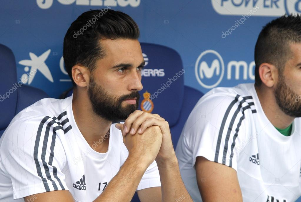 Alvaro Arbeloa of Real Madrid during a Spanish League match against RCD  Espanyol at the Power8 stadium on September 12 2015 in Barcelona Spain —  Photo by ...