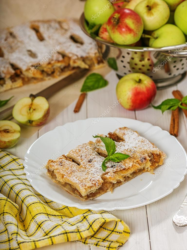A piece of apple strudel