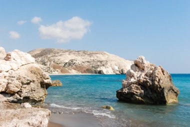 Beautiful bay with turquoise waters and rock formations in Cyprus
