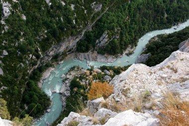 Breathtaking view of the Verdon gorge