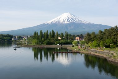 Mount Fuji and its reflection