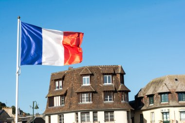 French flag flying in Normandy