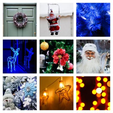 Christmas and New Year's eve collage