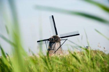 Typical windmill in Holland