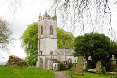 Traditional Irish church in a beautiful scenery