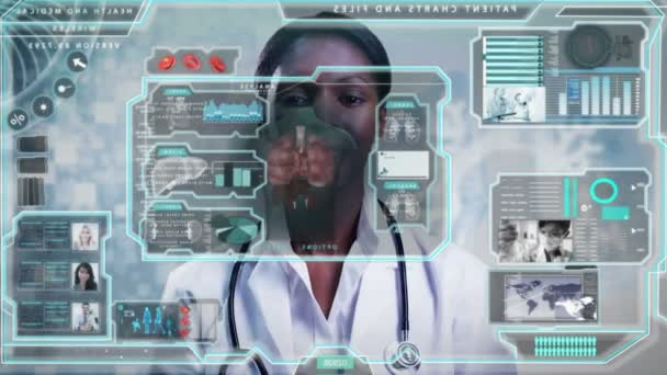 doctor using touchscreen