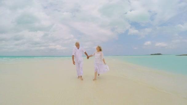 penzionovaný senioři na tropické pláži