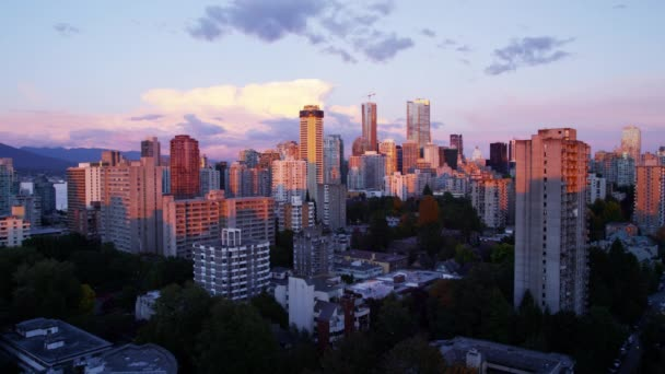 městské budovy v Vancouveru