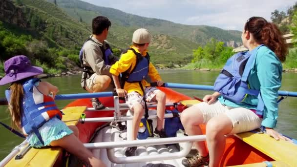family having trip on Colorado River