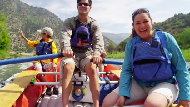family rafting on Colorado River