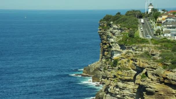coastline and Macquarie Lighthouse, Sydney,