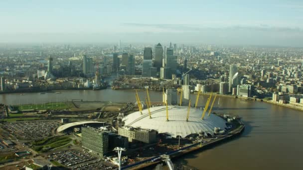 O2 Arena and River Thames in London