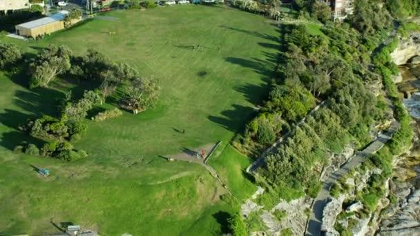 park overlooking Bondi Bay