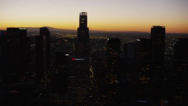 sunrise of Los Angeles cityscape