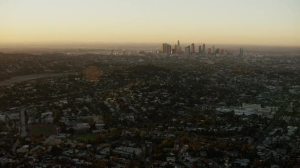 Los Angeles, California at sunrise