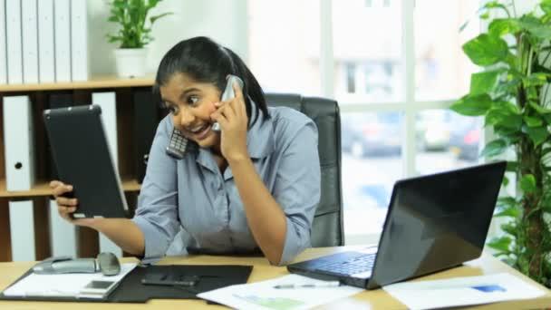 Female business advisor working under pressure