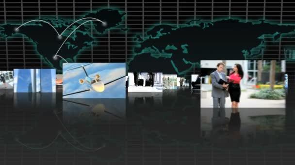 3D sestřih multietnické finanční manažeři ve spojení