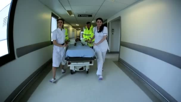 Wide Angle Emergency Paramedics Child Patient