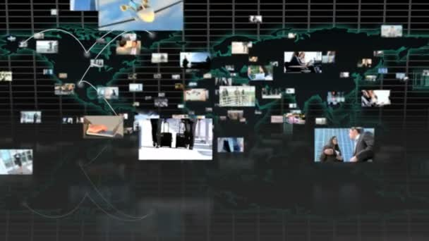 3D Flug durch Montage erfolgreiche Manager mit Hilfe moderner Technologie