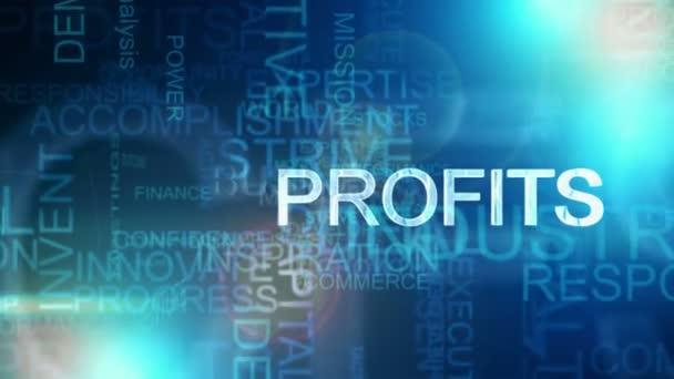 Montage blue motion text background business success theme