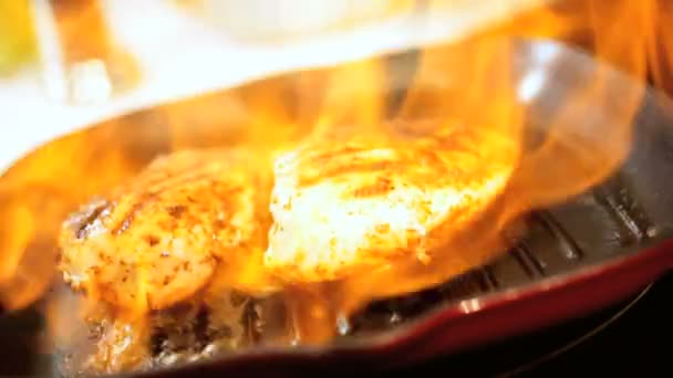 Flame Cooking Boneless Chicken Healthy Meal Option