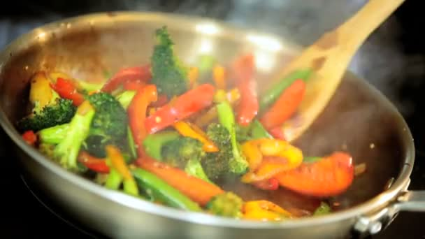 chutný míchaný organické zeleniny míchejte smažit jídlo