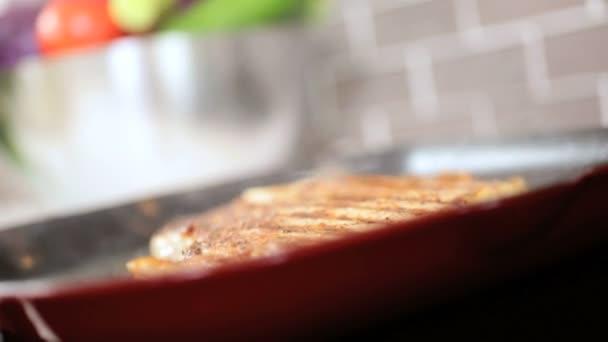 egészséges életmód főzés t-bone steak közelről