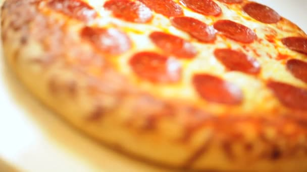 Hot Tasty Oven Baked Fresh Pepperoni Pizza