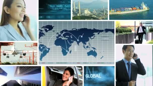 3D video-Montage asiatischen Geschäft Welthandel team Strategie Grafikanimationen