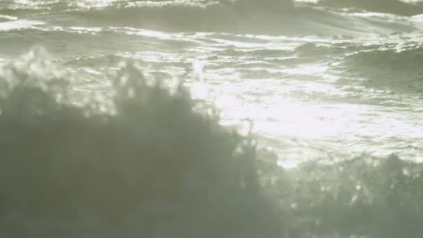 Onde di oceano di lavaggio sulla battigia