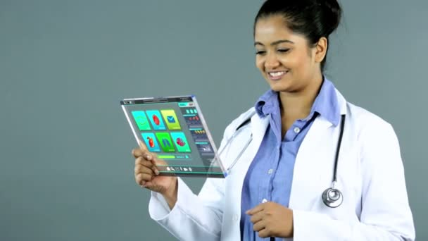 Touch screen Indian doctor multimedia medical motion graphics