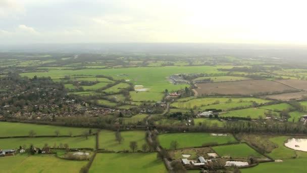 Letecký pohled na venkovské krajiny města, Anglie, Velká Británie