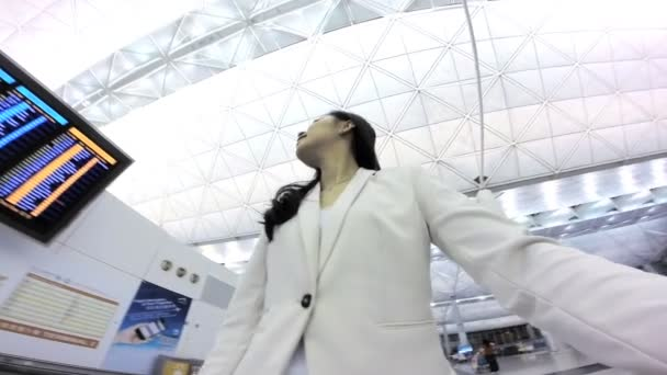 Asian Business woman in the International Airport