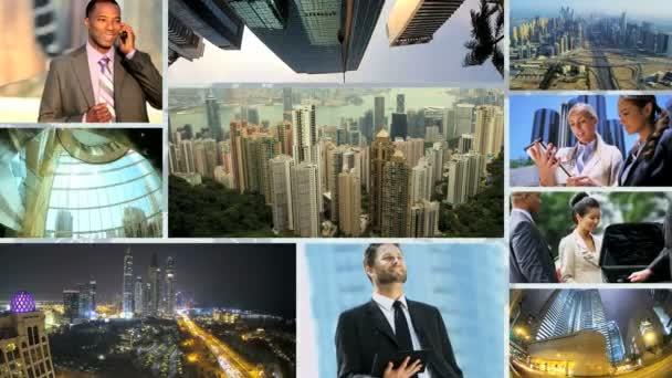 Kavkazská afroamerické čínské mužského a ženského podnikání globální setkání