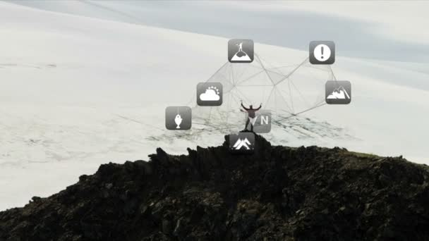 Mountain Climber on Rocky Glacier Peak