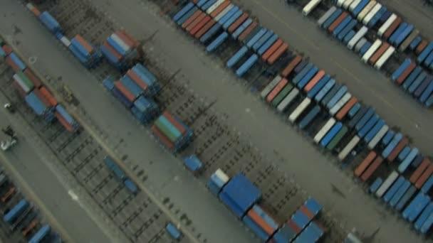 Vzdušný kontejner Depot Highway Rail Yard San Francisco Usa