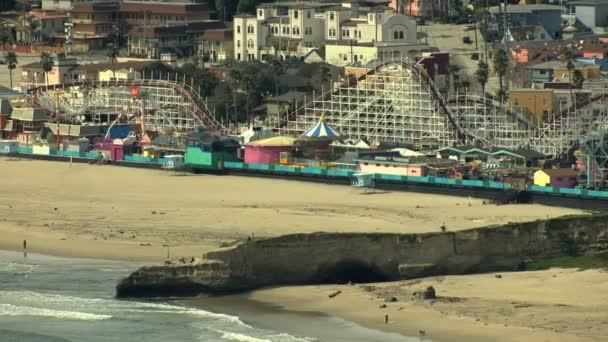 Molu Pier promenádě Santa Cruz struktury dřevěný