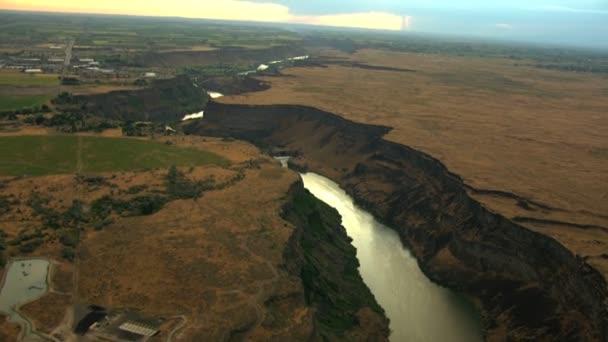 Vzdušný Idaho Usa Snake River západ Plain Shoshone Park