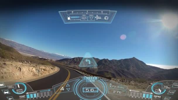 Car driving pov application motion graphics