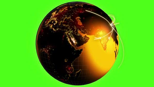3D business communication global motion graphics